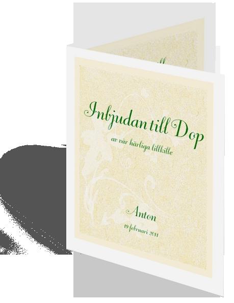 Exempel på inbjudningskort dop
