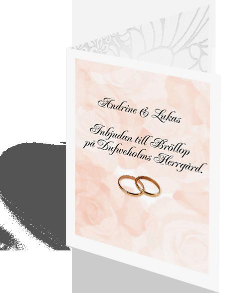 Inbjudningskort bröllop - ett exempel
